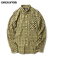 Men Flannel Plaid Shirt 100 Cotton 2017 Casual Long Sleeve Shirt Soft Comfort Slim Fit Styles