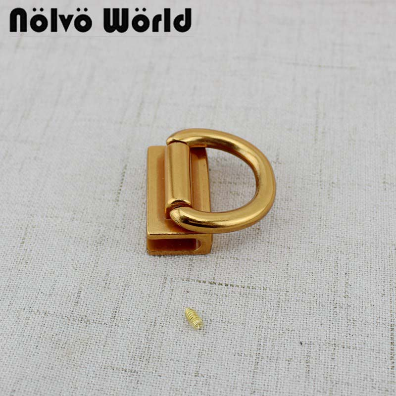 4pcs Old Gold 21mm Inch Handbag Bag Square Gusset Clip Clasp Buckle Screws Connector,purse 2 Sides Hook