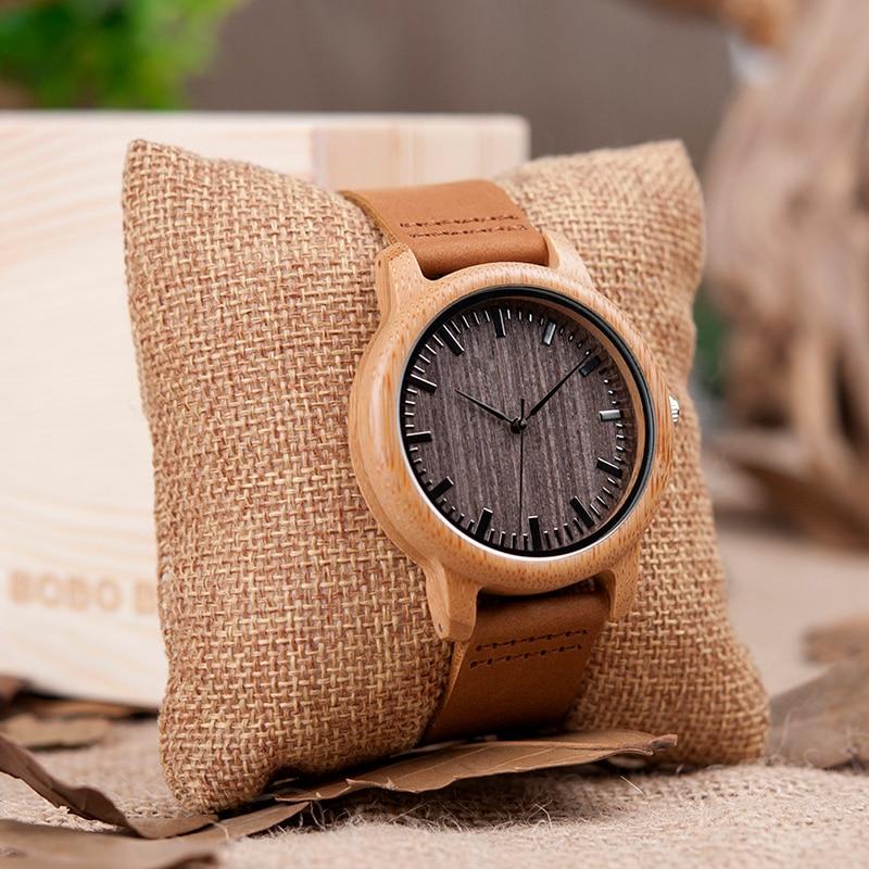 BOBO BIRD V-A18 Topmærke Træ ure Herre Casual Bamboo Quartz - Mænds ure - Foto 6