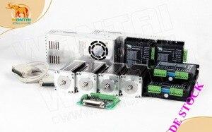 Image 1 - EU Gratis! CNC Wantai 4 Axis Nema23 Stappenmotor 425 oz (3N. m) 4.2A 8mm enkele as + Driver DQ542MA 4.2A Laser Graveur Machine