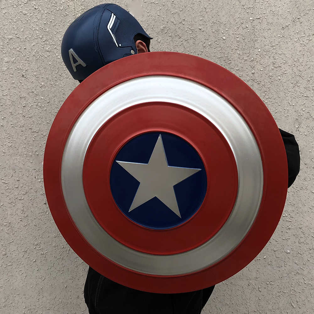 Captain America Shield Cosplay Avengers Endgame Captain America Costume Accessory Steve Rogers Shield Halloween Party Props