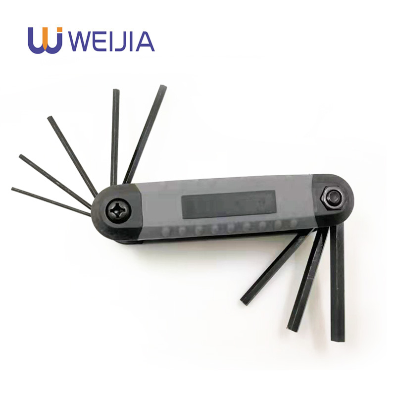 Portable Folding Key Hex Wrench Set 8 In 1 High Quality  Inner Hexagon Spanner Allen Wrench Screw Repair Tools