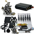 Complete Tattoo Machine Kit 1 Pro Machine Guns Inks Power Supply Footpedal Grips For Beginners