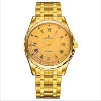Maschio orologio da uomo acciaio pieno orologio meccanico automatico impermeabile fashion night watch affari vigilanza degli uomini della cinghia.