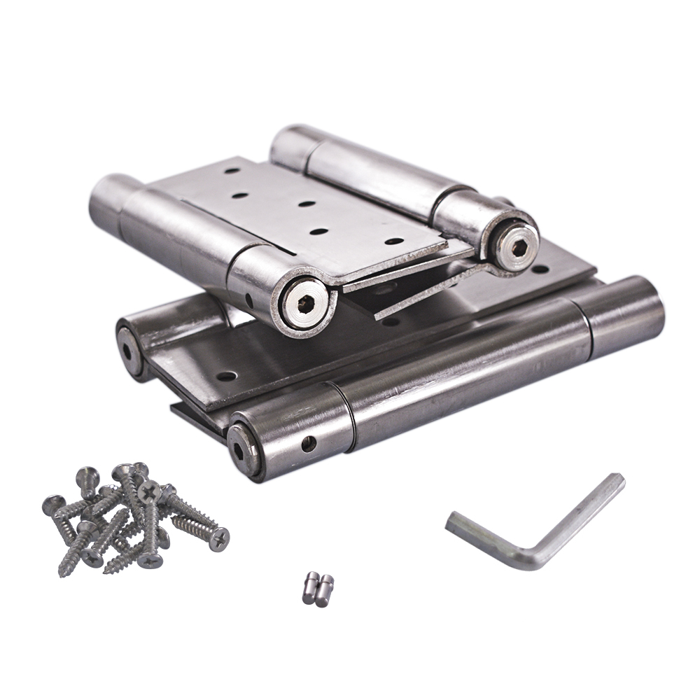 6 Inch Stainless Steel Automatic closing Double Action Silver Spring Door Hinges Adjustable Tension 1 pair цены