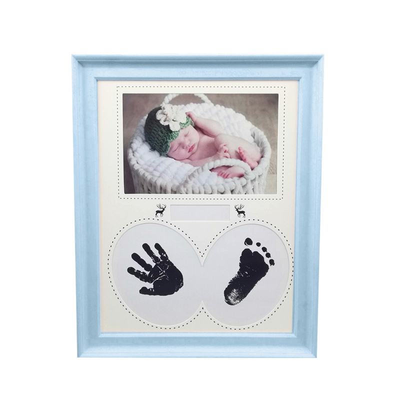 Hot Sale Baby Photo Frame Cute Kids Picture Frame Newborn Handprint Footprint Photo Frame Room Decorations Baby Birthday Gift