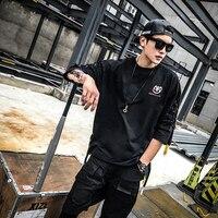 Fashion Brand T Shirt Men Half Sleeve High Street Style O Neck Men S Black T