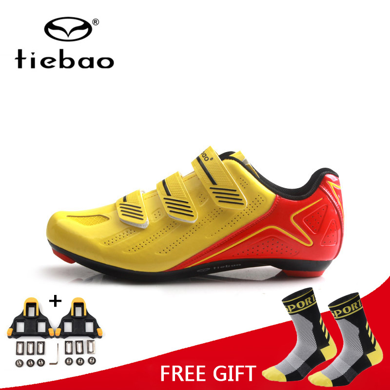 Tiebao Road Bike Shoes Professional Triathlon Riding Team Self Locking Bicycle MTB Equipment Racing Athletic Cycling