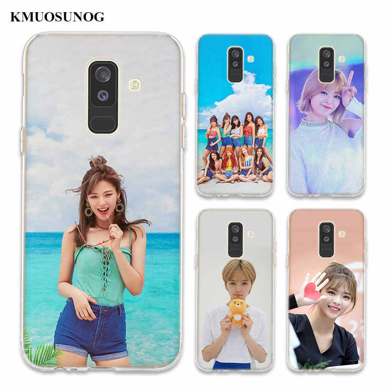 Transparent TPU Cover Twice Kpop Girls Group For Samsung Galaxy A750 A9 A8 A7 A6 A5 A3 Plus 2018 2017 Phone Case