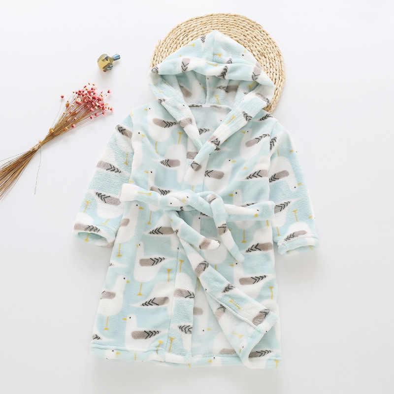 Детский халат для девочки одежда осень детская зимняя мальчиков фланель  ночная рубашка Хлопок халаты для 11b73bd156d78