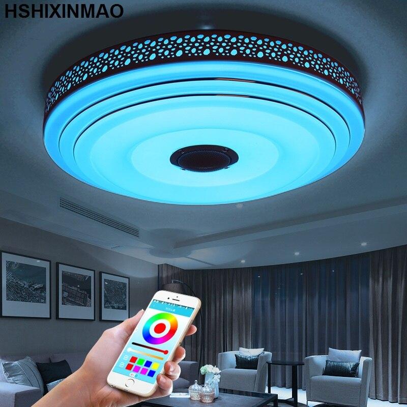 Nouveaux plafonniers de LED Dimmable 36 W de rvb avec l'appareil d'éclairage de lampes de plafond moderne à LEDs de Bluetooth et de musique - 3