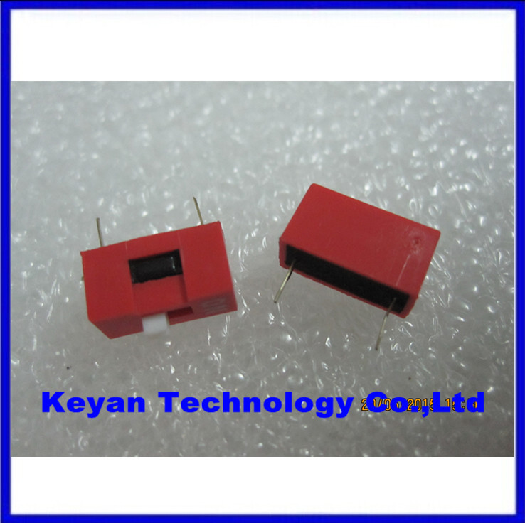 100pcs 1P 1 Position DIP Switch 2.54mm Pitch 2 Row 2 Pin DIP Switch