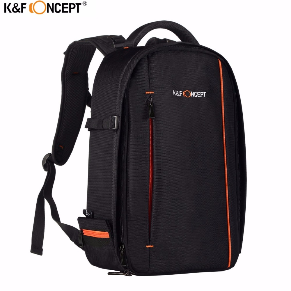 K&F Concept Multifunctional Waterproof Camera Backpack Detachable Digital Photo Soft Bags Travel Bag for Sony Canon Nikon d3300