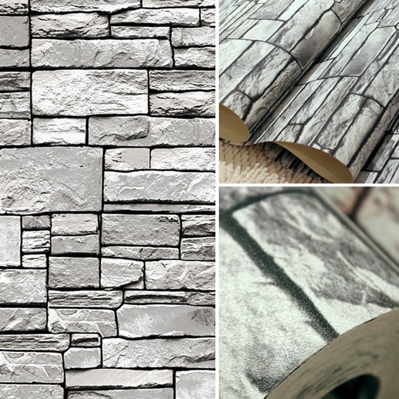 Papel tapiz ladrillo papel tapiz acabado piedra ladrillo los fabricantes que venden retro - Papel pared gris ...