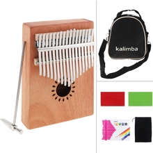 17 Key Kalimba Single Board Mahogany Thumb Piano Mbira Mini Keyboard Musical Instrument with Complete Accessories kalimba piezo pickup mbira accessories thumb piano pick up musical instruments