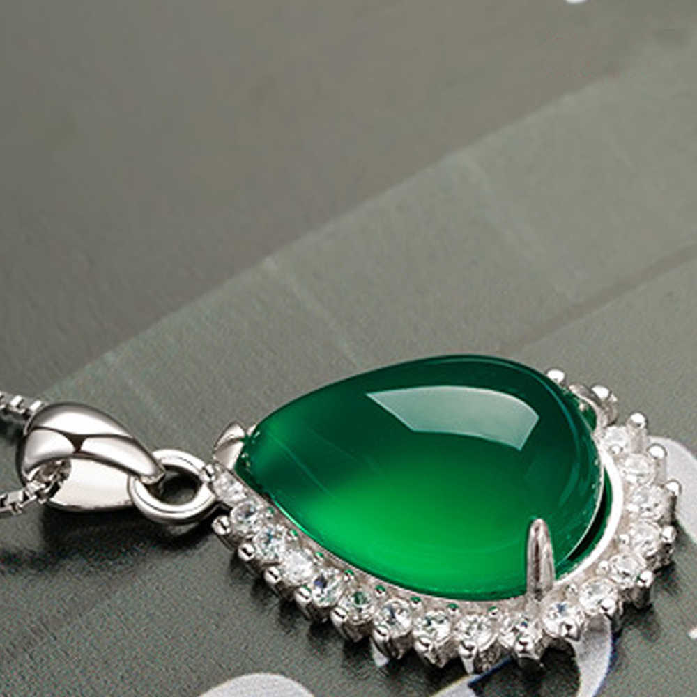 110431536 ... Genuine Real Pure Solid 925 Sterling Silver Pendant for Women Female Fine  Jewelry Gem Stone Natural ...