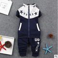 2016Boys clothes autumn winter cotton clothing set +pants 2-piece set suit kids tracksuit sport baby outerwear christmas gift