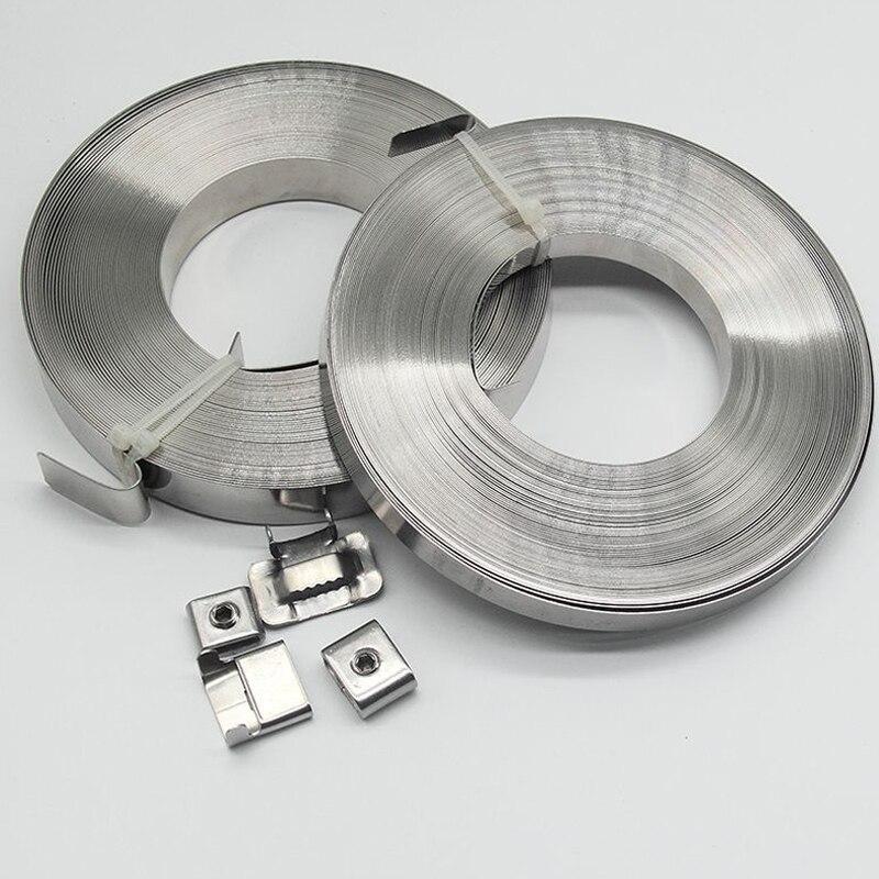 30m 15mm métal cravate métallique fermeture éclair attaches sangle plastique câble fil sangle attache opaska kablowa attache serre sangles enroule câbles