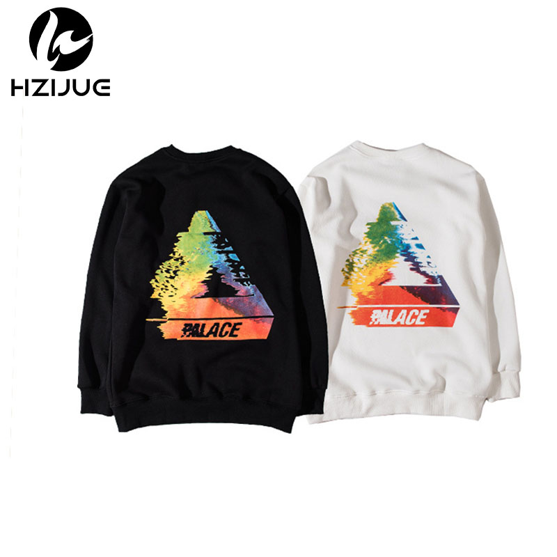 HZIJUE 2017 NEW Fashion Hoodies Men Dissolve 1 1 Top Version Skateboards Hip Hop Cotton Sweatshirts