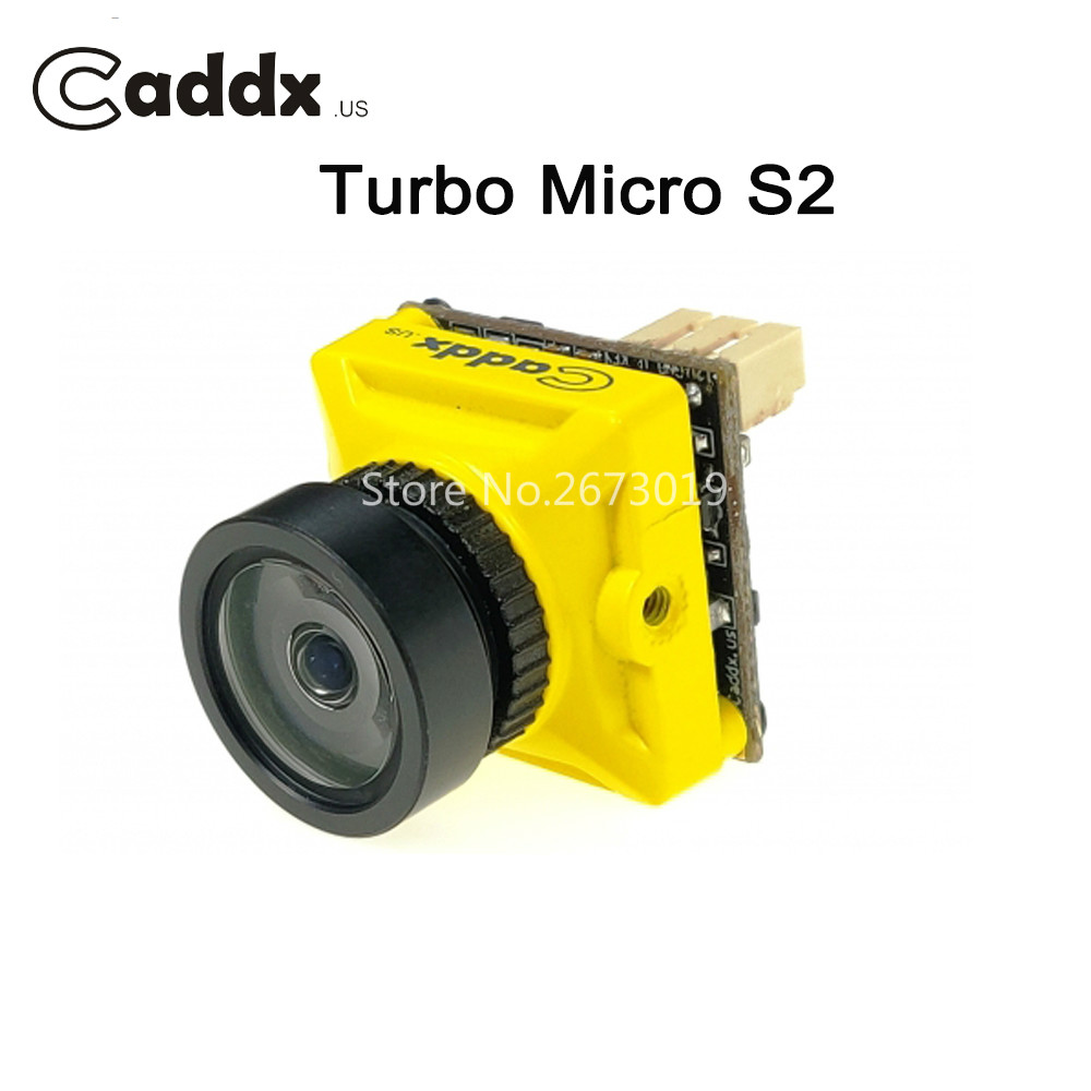Caddx Turbo Micro S2 2.1/1.8mm FPV Camera 4:3 PAL/NTSC Newest CCD Sensor with Ultra Low Latency Yellow for RC FPV Racing Drone цена