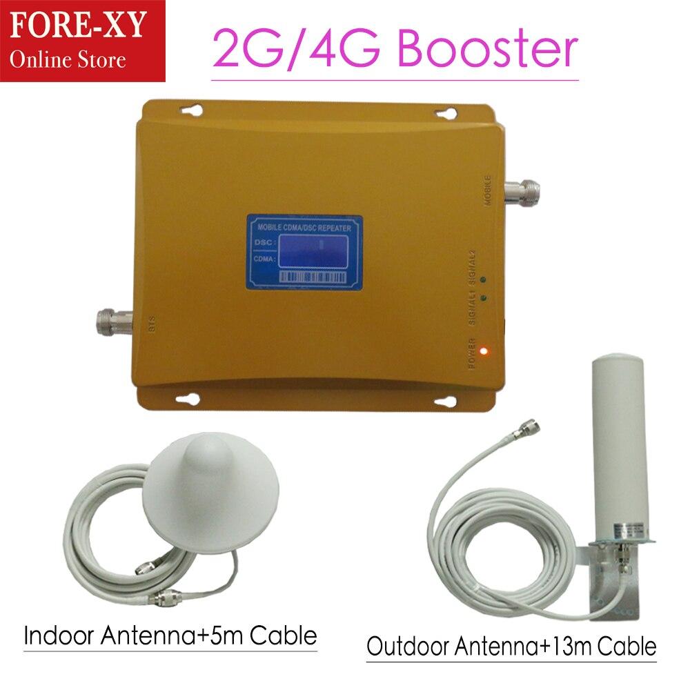 LCD affiche 850 1800 65dB amplificateur de téléphone portable GSM 850 DCS 1800 double bande cellulaire répéteur de Signal Booster mini amplificateur