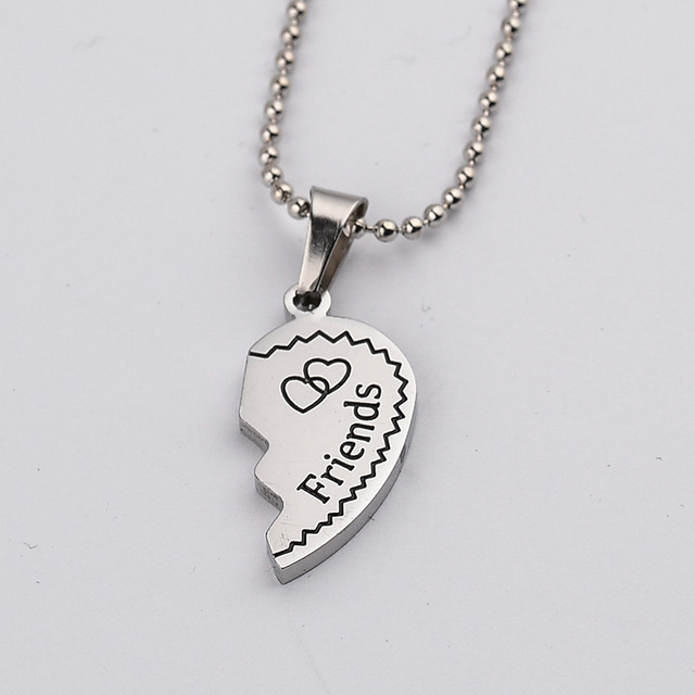 Hot Sell 2pcs Women Best Friends Silver Necklace & Pendant