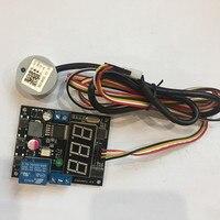 Non Contact Ultrasonic Liquid Level Sensor Digital Display Altitude Switch Adjustable Display Value Relay Output Level