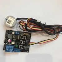 Nicht-kontaktieren ultraschall flüssigkeit level sensor Digital display höhe schalter einstellbar display wert relais ausgang level sensor
