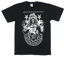 Rob Zombie Devil Man 2011 Tour Black T Shirt New Official Pentagram Short Sleeve Men shirt Tops Summer