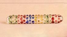 Поддельные пениса Anal Анальная пробка женская мастурбация гей секс-игрушки массаж палки для Для женщин двуглавый Кристалл Стекло фаллоимитатор Волшебная палочка