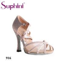 Free Shipping Top Sale Latin Dance Shoes Rhinestone Dance Shoe Popular Dance Woman Salsa Shoes