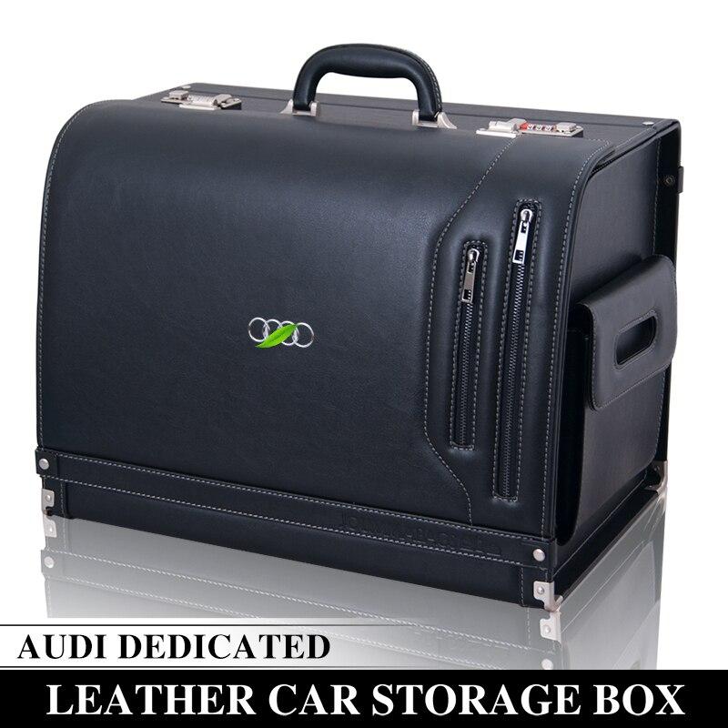 Dédié à Audi boîte de rangement A3A4LQ3Q5A6LA5Q7A7A8 voiture en cuir boîte de rangement de voiture haut de gamme en cuir voiture coffre boîte de rangement