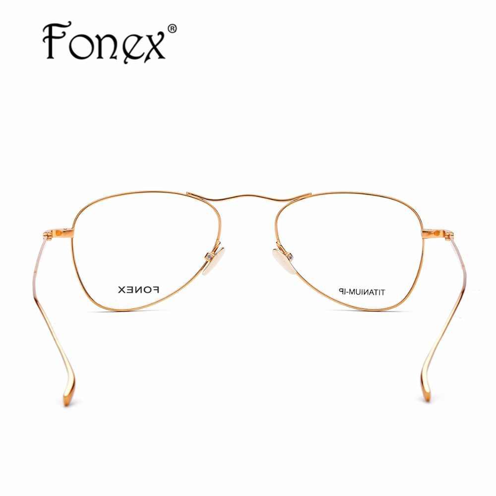 9b8311259de ... B Pure Titanium Glasses Frame Men Ultralight New Women Aviation Myopia  Optical Prescription Eyeglasses High Quality ...