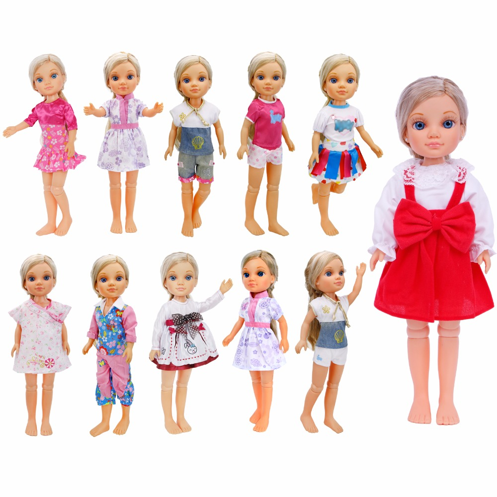 Lovely Fashion Outfit Daily Casual Wear Dress Mixed Style Pants Skirt Jumpsuit Clothes For Nancy Doll Accessories Baby Girl