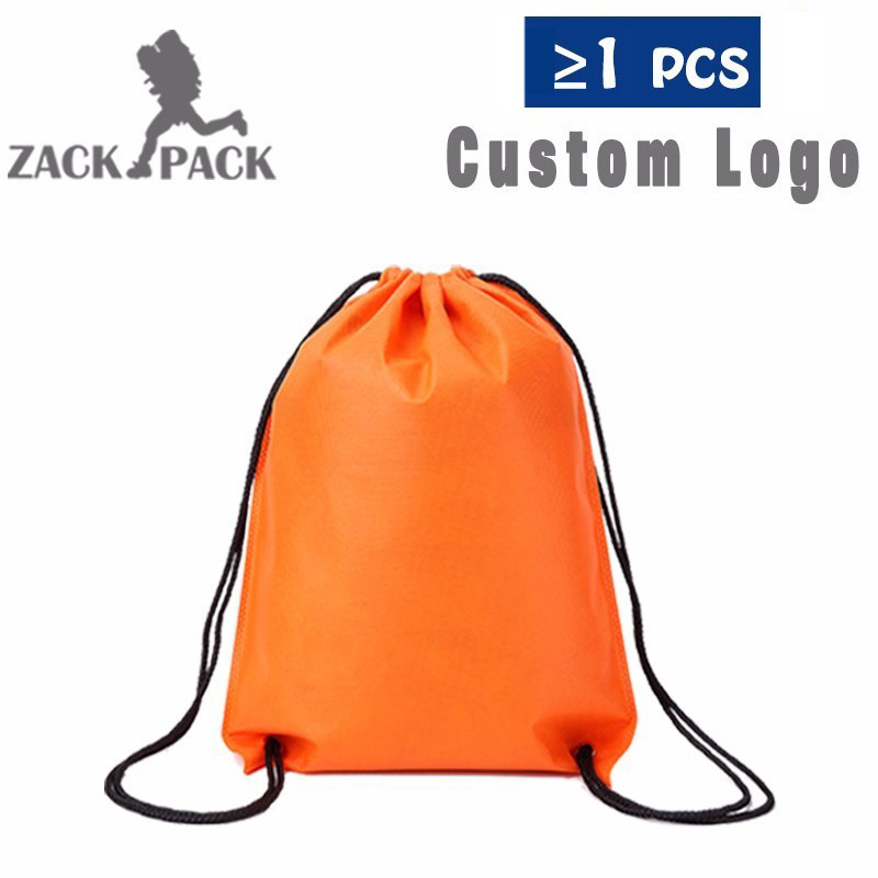 Drawstring Bags Custom Logo String Bag Promotional Sports Printed Backpack Pull Rope Female Canvas Gym School DB22 Six Color