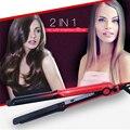 Профессиональный утюжок для выпрямления волос 2в1  щипцы для завивки волос  гофрированные щипцы для выпрямления волн  утюжок для завивки  ин...