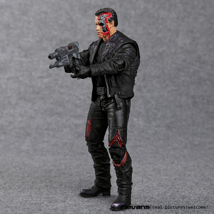 "Image 3 - The Terminator T 800 Arnold Schwarzenegger PVC Action Figure Collectible Model Toy 7"" 18cm-in Action & Toy Figures from Toys & Hobbies"
