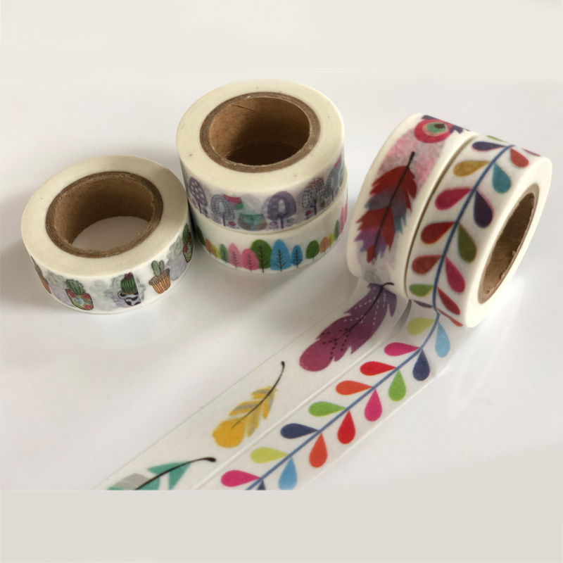 5pcs/Lot jiataihe washi tape masking Cactus Japanese set 10m decorative scotch tapes Stationery School supplies free shipping