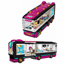 684 Pcs 10407 Friends Pop Star Tour Bus Building Blocks 41106 Legoing Friends Figures Bricks Toys for Children Model Toys Gift(China)