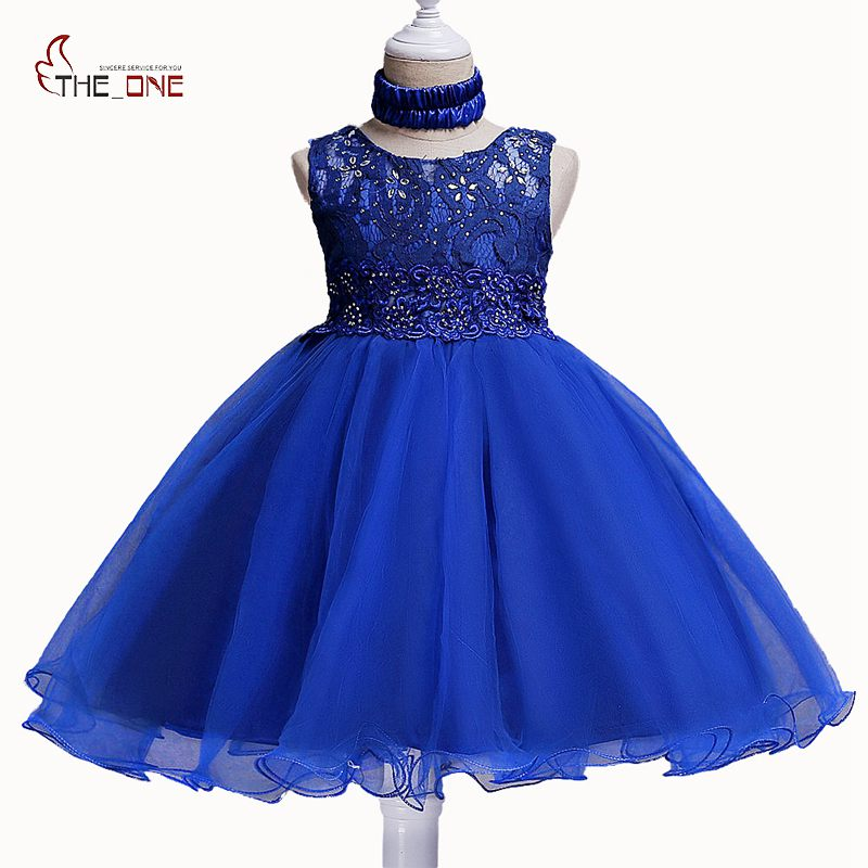 MUABABY Girls Princess Dresses Children Summer Flower Diamond Tulle V Back Wedding Dress with Neckband Kids Birthday Party Gown muababy big girls princess dress summer children flower sleeveless tulle prom party dresses kids girl wedding evening ball gown