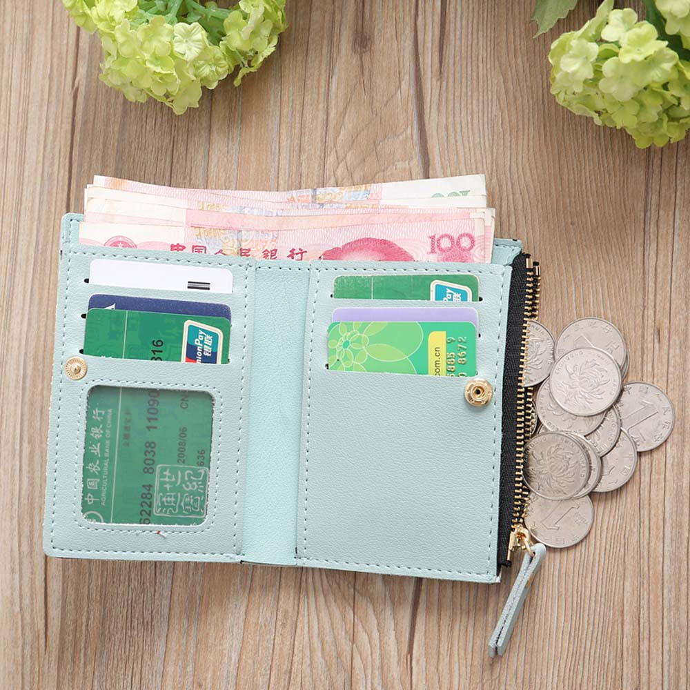 Aelicy PU Leather Women Embroidery Zipper Short Wallet Famous Brand Wallet Women High Quality Coin Purse Women's Purse Wallet