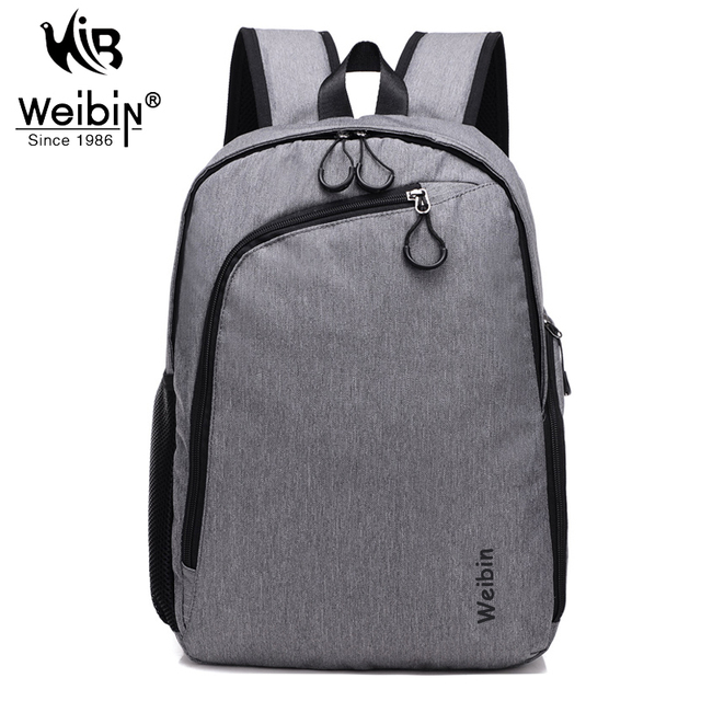 Weibin Men Canvas Backpack College Student School Backpack Bags for Teenagers Vintage Mochila Casual Rucksack Travel Daypack