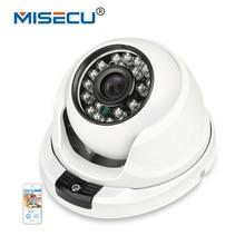 MISECU 1280*720P 1.0MP POE 24pcs leds IP Camera 48V POE Dome ONVIF Waterproof Out/indoor IR Night Vision P2P Plug&Play cctv free