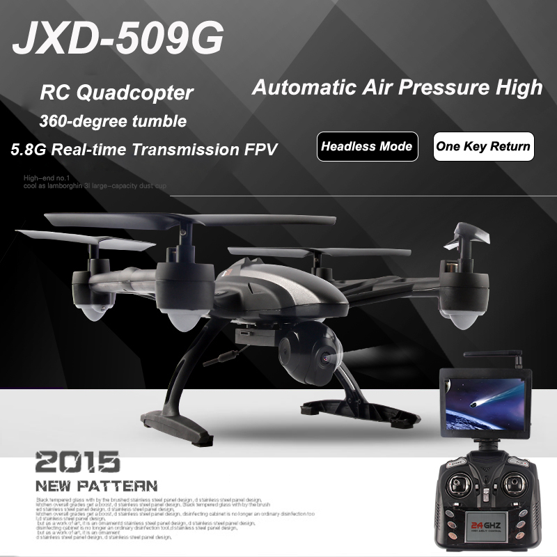 JXD 509G 5.8G FPV RC Quadcopter RTF  with Camera Headless Mode One Key Return Christmas gift (JD-509G JXD 509 FPV Version) jjrc h12wh wifi fpv with 2mp camera headless mode air press altitude hold rc quadcopter rtf 2 4ghz