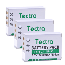 Tectra 3PCS NP-95 NP95 NP 95 Digicam Battery for Fujifilm FinePix REAL 3D W1  X100 X100S X-S1 F30 F31fd X30 X100T Ricoh GXR