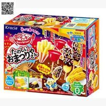 Japanese Snack Popin Cook Happy fireworks festival DIY handmade candy drinks,Toy ,sweets and candy, Food ,Candy ,Snack toy free shipping pencil shaped chocolate gifts 3d puzzle toy stickers 50g sweets and candy food candy box