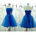Vestido De Festa vestidos De formatura 2015 Sexy Backless azul Royal Vestido De noite curto barato Vestido De Festa Vestido da ocasião especial