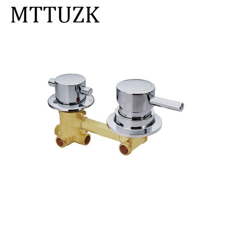 MTTUZK wall mounted 2 3 4 5 Ways water outlet brass shower tap screw intubation shower