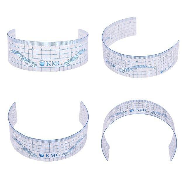 Microblading Eyebrow Ruler 3Pcs Permanent Makeup Plastic Transparent Measure Shaping Tool Reusable Eyebrow Stencil Tattoo Supply 4