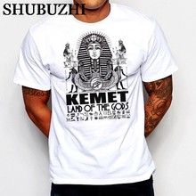 shubuzhi Fashion Egyptian T-Shirt Egypt Kemet Pharaoh Ankh King Tut Eye of Horus Ra Land of Gods100% Cotton Humor Tee Shirts(China)